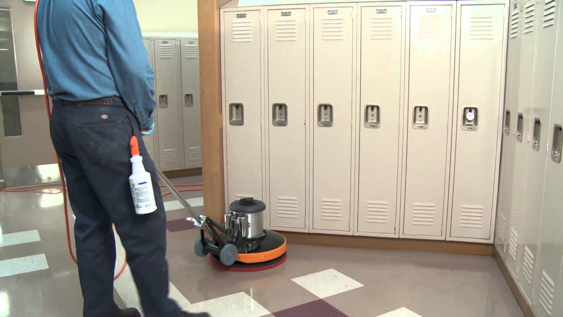 JaniService Janitorial Service Professionals - Buffing ceramic tile floors
